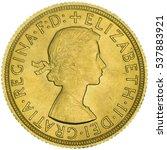 queen elizabeth ii gold... | Shutterstock . vector #537883921