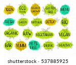 set of labels  lettering design ... | Shutterstock .eps vector #537885925