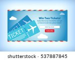 win free airplane tickets e... | Shutterstock .eps vector #537887845
