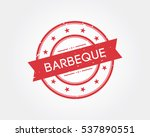 barbeque. stamp sign   Shutterstock .eps vector #537890551