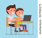 schoolboy  pupils  students ... | Shutterstock .eps vector #537900175