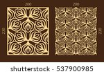 laser cutting set. woodcut... | Shutterstock .eps vector #537900985