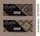gift voucher in luxury style.... | Shutterstock .eps vector #537902344