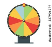 fortune wheel in flat style.... | Shutterstock .eps vector #537906379