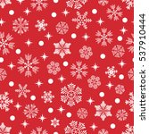 the pattern of snowflakes.... | Shutterstock .eps vector #537910444