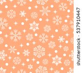 the pattern of snowflakes.... | Shutterstock .eps vector #537910447