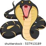 angry snake cartoon | Shutterstock .eps vector #537913189