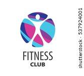 vector logo fitness | Shutterstock .eps vector #537924001