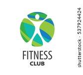 vector logo fitness | Shutterstock .eps vector #537924424