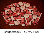 christmas santa cookies on a... | Shutterstock . vector #537927421