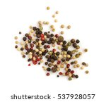 Dry Pepper Mix Isolated On...