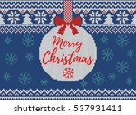 merry christmas and new year... | Shutterstock .eps vector #537931411