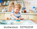 little blond kid plays with... | Shutterstock . vector #537932539