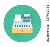 cash register vector icon | Shutterstock .eps vector #537933781