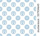 vector illustration of seamless ... | Shutterstock .eps vector #537934645