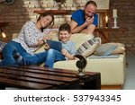 happy family together  son... | Shutterstock . vector #537943345