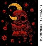 comic illustration insomnia... | Shutterstock . vector #537952741