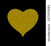 yellow  gold heart. happy... | Shutterstock .eps vector #537955081