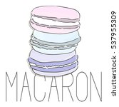 vector french macarons  fashion ... | Shutterstock .eps vector #537955309
