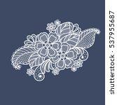 lace flowers decoration element | Shutterstock .eps vector #537955687