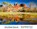 The View Of Cathedral Rock In...