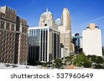 downtown of oklahoma city  ... | Shutterstock . vector #537960649