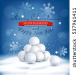 vector christmas background...   Shutterstock .eps vector #537961411