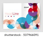 abstract circles  annual report ... | Shutterstock .eps vector #537966091