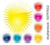 set of unusual multicolored... | Shutterstock .eps vector #53797012