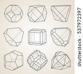 set of geometric crystals.... | Shutterstock .eps vector #537972397