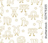 signs of the zodiac. horoscope... | Shutterstock .eps vector #537975355