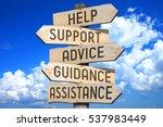 signpost   customer support... | Shutterstock . vector #537983449