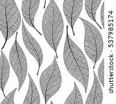 seamless leaves pattern. vector ... | Shutterstock .eps vector #537985174
