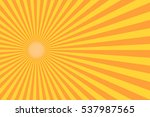 Retro Sunburst Ray In Vintage...