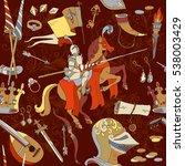 medieval seamless pattern ... | Shutterstock .eps vector #538003429