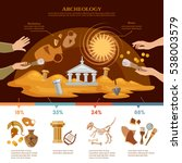 archeology and paleontology... | Shutterstock .eps vector #538003579