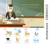 education infographic.... | Shutterstock .eps vector #538004215