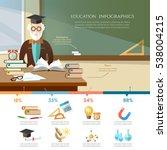 education infographic.... | Shutterstock .eps vector #538004215