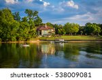 house on the shore of lake... | Shutterstock . vector #538009081