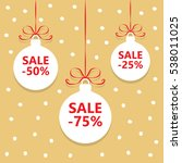 special christmas balls sale.... | Shutterstock .eps vector #538011025