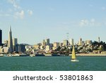 cityscape of san francisco from ... | Shutterstock . vector #53801863