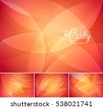 curvy abstract background.... | Shutterstock .eps vector #538021741