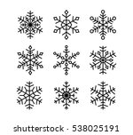 vector snowflakes collection. | Shutterstock .eps vector #538025191
