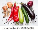 onion  garlic  cucumber ... | Shutterstock . vector #538026007