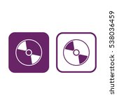 compact disc icon. cd   dvd... | Shutterstock .eps vector #538036459