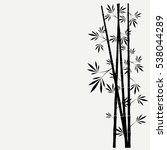 bamboo stems with leaves on...