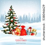 holiday christmas background... | Shutterstock .eps vector #538046629