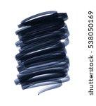 black hand painted brush stroke ... | Shutterstock . vector #538050169
