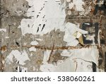 effect of posters leave traces...   Shutterstock . vector #538060261