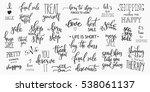 lettering photography overlay... | Shutterstock .eps vector #538061137